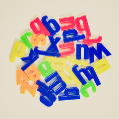 Retro look Letters picture