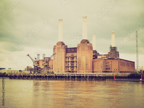 Retro look Battersea Powerstation London