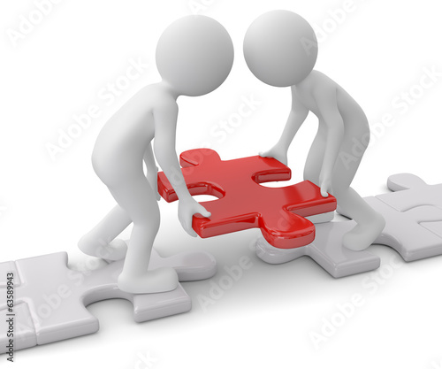 Teamwork Puzzleweg bauen