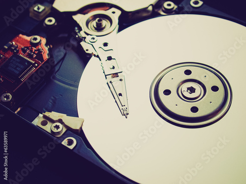 Retro look Hard disk