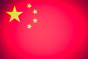 Retro look Flag of China