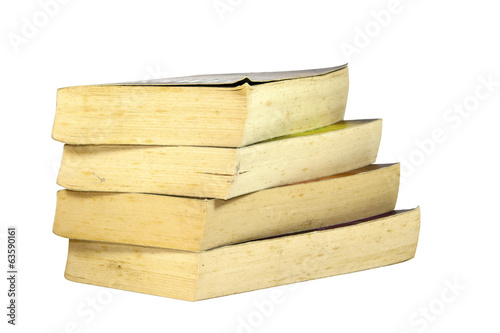 Stack of Four Old Yellowing Paperback Books
