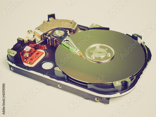 Retro look PC hard disk