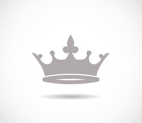 Crown grey icon VECTOR