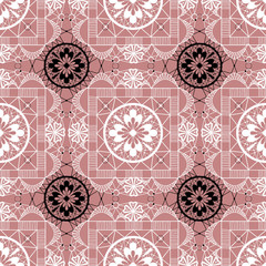 White seamless lace pattern background