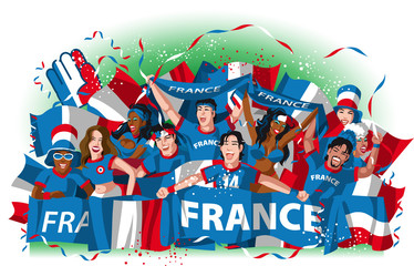 France soccer fans