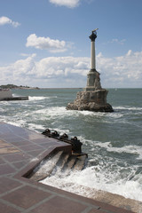 Monument to the scuttled ships in Sevastopol. Crimea.