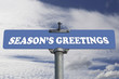 Season's greetings road sign