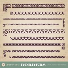 Borders with corner elements - set 1