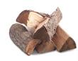 Leinwandbild Motiv Firewood. Photo series in different versions