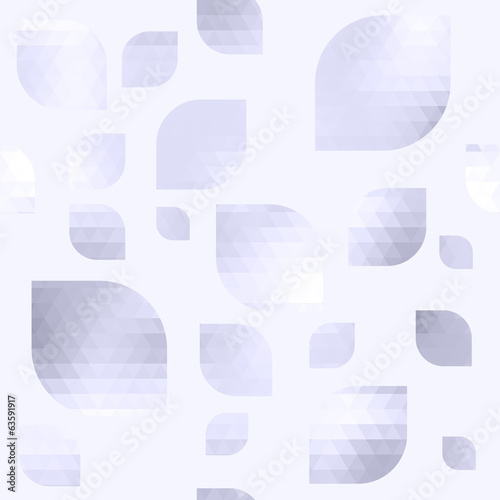 Seamless abstract background - light grey mosaic petals.