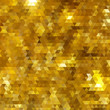 Golden glitter mosaic faceted background.