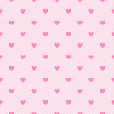 Seamless pink lace pattern with hearts.