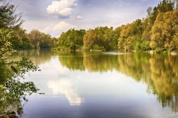 Drava river in spring