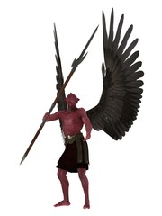 Red skinned winged demon