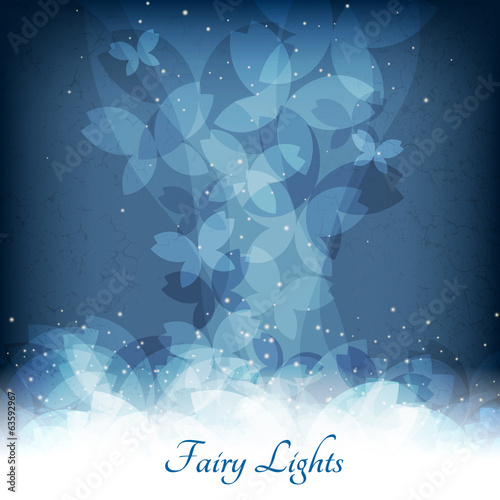 Abstract magic lights background. Good template for postcards or