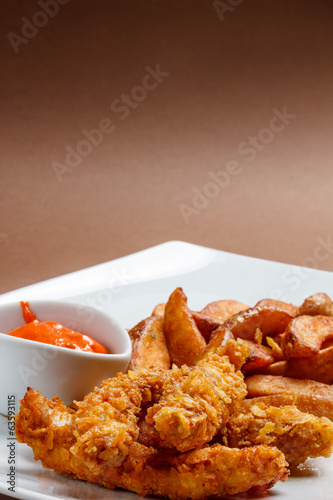 Crispy chicken breast