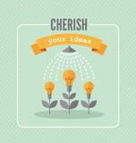 Cherish your ideas poster