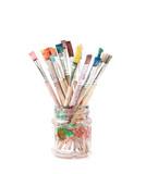 Paint brushes isolated on white - 63593500