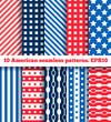 set of ten american seamless pattern