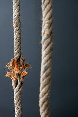 Frayed rope