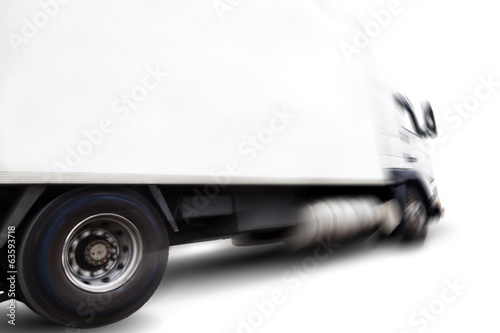 Truck isolated over white background .Transport of commodity
