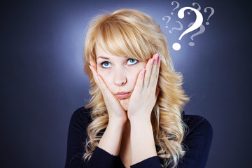 Confused woman having too many questions