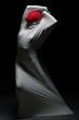 Idea of self-torture - faceless female silhouette