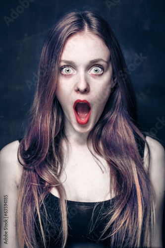 shocked girl