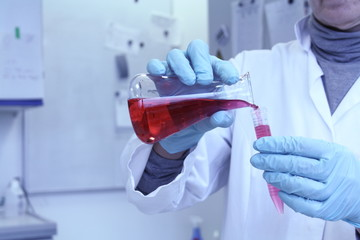 Lab assistant forgets red liquid from test tube