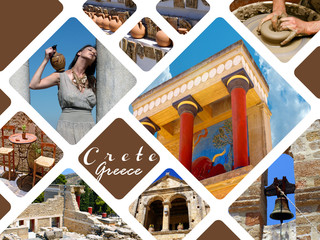 Knossos palace at Crete, Greece Knossos Palace, is the largest B