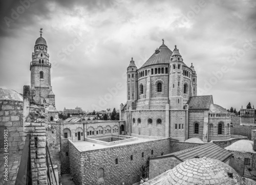 Abbey of the Dormition - B&W
