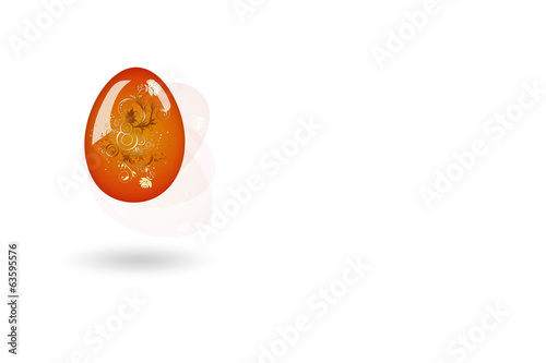 Easter egg white background