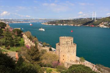 Istanbul Rumeli Fortress in spring