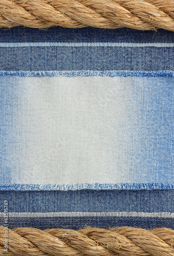 ship ropes and jeans background