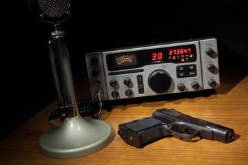 Radio and handgun