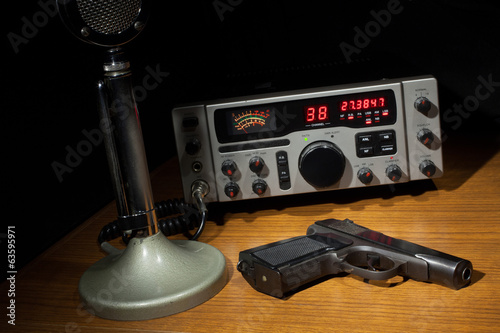 Radio and handgun