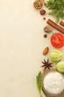 food ingredients and paper