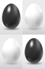 eggs black and white
