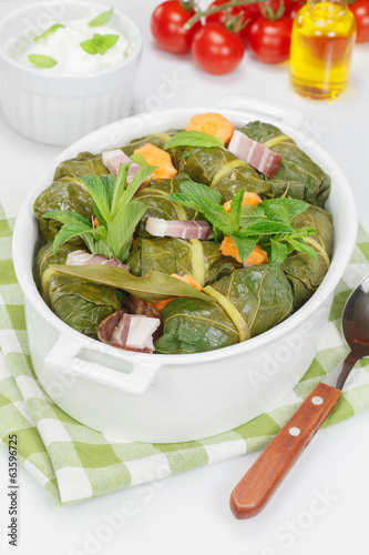 Stuffed Collard Greens. Collard Green Rolls