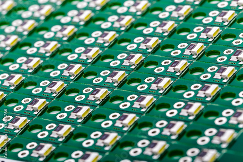 Side Emitting LEDs on Green PCB, PCB Assembly, LED Illumination