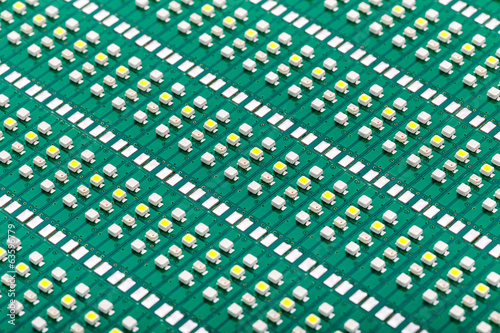 SMD LEDs on Green PCB (Printed Circuit Board), LED Technology