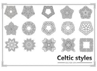 Set of vintage patterns Celts