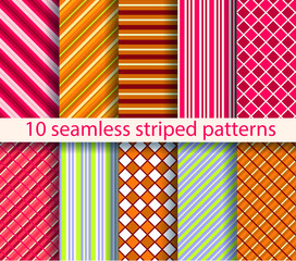 10 seamless patterns. EPS10, no gradient, no transparency