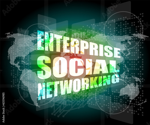 enterprise social networking, interface hi technology, screen