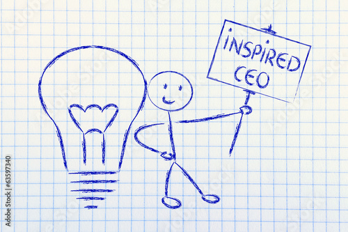 man with ideas and knowledge: inspired ceo