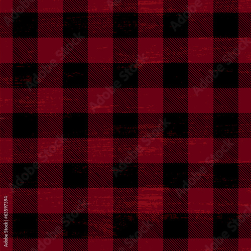 Scratched plaid vector pattern background