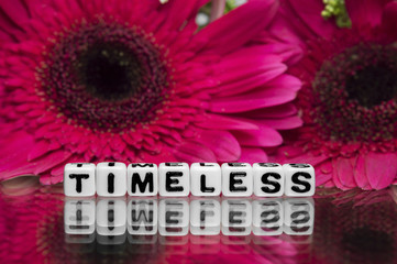 Timeless text message with flowers