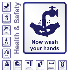 Construction related health and safety sign