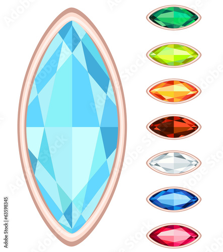 amber, citrine, ruby, diamond, sapphire, emerald oval gemstone s